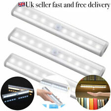 10 LED PIR Motion Sensor LED Night Light Battery Operated with Magnetic Strip