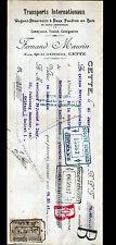"CETTE (34) TRANSPORT / LOCATION de WAGONS-FOUDRES ""Fernand MAURIN"" en 1910"