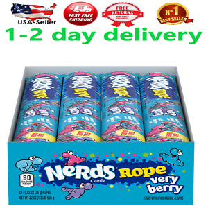 Nerds Rope, Very Berry Candy, 0.92 Ounce, Pack Of 24