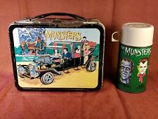 Rare Vtg The Munsters Lunchbox/Matching Thermos,KAYRO-VUE Productions,1965 VGC!!