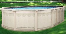 Above ground oval swimming pool 10x16x52
