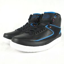 Nike Boys' Air Jordan 2 Retro Bg Basketball Shoes Black Blue White 7Y 834276-015
