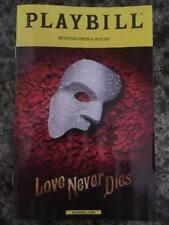 Love Never Dies playbill Boston tour 2018 Andrew Lloyd Webber Phantom sequel