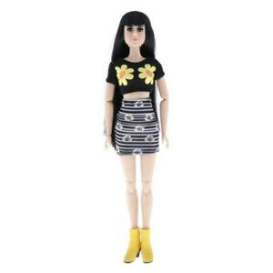 1/6 Fashion Girl Doll in T-shirt Dress Clothes 22 Bambola snodata Capelli lisci