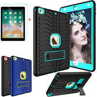 For iPad 6th Generation 9.7'' 2018 Shockproof Stand Case Cover +Screen Protector