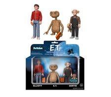 E.T. EXTRATERRESTRE Box 3 FIGURE 10cm ET Elliot Gertie FUNKO ReACTION Figures