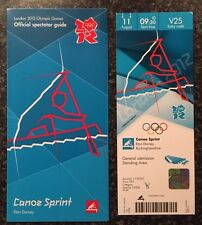 LONDON 2012 OLYMPIC TICKET CANOE SPRINT ED MCKEEVER GOLD 11AUG & SPECTATOR GUIDE