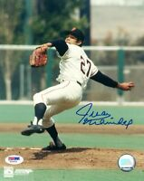 JUAN MARICHAL SIGNED AUTOGRAPHED 8x10 PHOTO SAN FRANCISCO GIANTS PSA/DNA