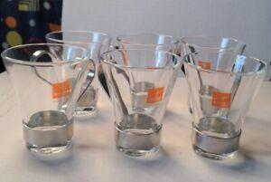 6 Bormioli Rocco Espresso Cups made in Italy