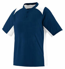 Augusta Sportswear Men's Double Needle Two Button Short Sleeve Basic Tee. 1520