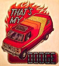 VTG Van 70s Dodge Ram vanning Custom Street Vans Macho Charger T-shirt iron-on