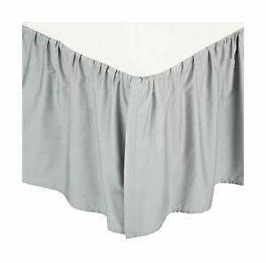 American Baby Company 100% Cotton Percale Ruffled Crib Skirt, Gray