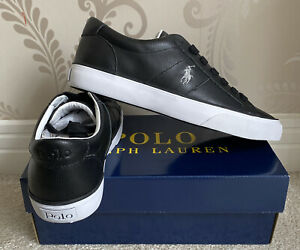 BNIB MENS POLO RALPH LAUREN LEATHER SPRING-SK SHOES/TRAINERS/SNEAKERS SIZE UK 7