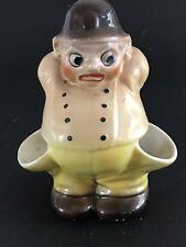 "Keystone Cop Figurine Ceramic 54 Slovakia 13 Brown Hat Yellow 5"""