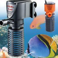 3 in 1 Aquarium Internal Oxygen-Submersible Water Pump For Fish Tank Pond HOT