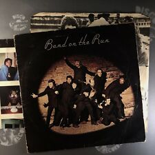 PAUL MCCARTNEY & WINGS • BAND ON THE RUN • LP+POSTER+INNER! • PAS10007 • EX-/EX-