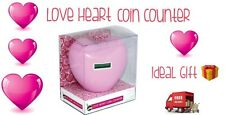 Electronic Coin Counter Love Heart Design New And Boxed Ideal Gift Idea