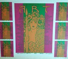 RICK GRIFFIN STANLEY MOUSE KELLEY ART POSTER 86 MOSCOSO HANDBILL PSYCH PRINT VTG