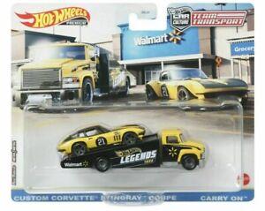 Hot Wheels Legends Tour Team Transport Corvette Walmart In Hand