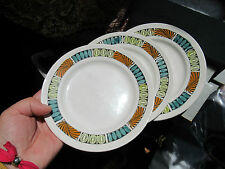Vintage 1960s/70s Broadhurst Kathie Winkle Mardi Gras Pattern 3 Side plates.