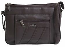 Lorenz PU Black Leather Ladies Shoulder Handbag 5862