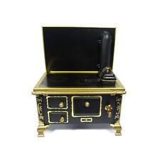 CREAL 3020 ETÀ fornelli nero metallo 1:12 per casa delle bambole NUOVO! #