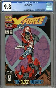 X-Force #2 CGC 9.8 NM/MT 2nd Deadpool & 1st Appearance of Weapon X WHITE PAGES