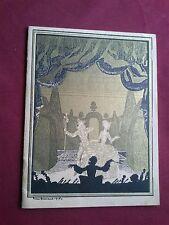 1930 THEATRE NATIONAL DE L' OPERA-COMIQUE MANON PROGRAMME SOUVENIR BROCHURE