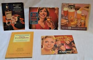 5 Vtg Promotional Liquor Booklets: Southern Comfort, Cointreau, House Of Calvert