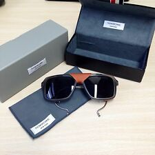 Authentic Thom Browne TB-010 Matte Grey & Tan Leather - £595!
