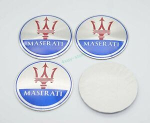 4x 56.5mm Car Accessories Hub Caps For Maserati Wheel Center Covers Logo Decal