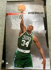Paul Pierce Signed 22x34 Color Poster Jsa