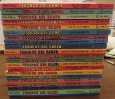 Walt Disney TESOROS DEL SABER Spanish Treasures of Knowledge 1-21 Vol Set