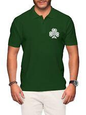 Ireland Polo Shirt Mens Rugby Vintage Irish Badge Nations Cup Man