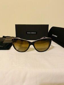 NEW Dolce & Gabbana Sunglasses DG4221 55mm Havana Frame Brown Lens Polarized