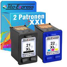 2 Cartridges For HP 21 & 22 XL Deskjet 3910 3915 3920 3940 3940 V 3950 D D 1311