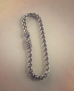 """David Yurman Large Box Chain Bracelet 5mm 8""""Long"""