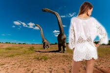 Summer  Cover Up Sexy  Swimsuit Cover Up Crochet Kaftan Beach Dress Tunic White