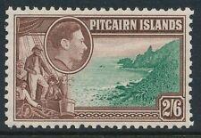 1940 PITCAIRN ISLAND 2/6d GREEN & BROWN MINT HINGED MH/MM SG8