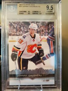 2014-15 Johnny Gaudreau Young Guns Rookie Card Graded BGS 9.5 w/ (3) 9.5 Subs!