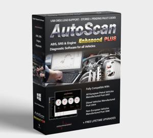 Autoscan Enhanced PLUS OBD2 EOBD Engine Diagnostic Software all Vehicles Elm327