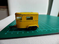Matchbox Superfast 43a Pony Trailer RARE Yellow Vintage Diecast Toy Pony Shoes