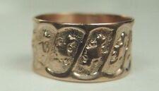 Victorian Art Deco 9 Karat Yellow Gold Wedding Band Ring Size 3 UK-F 8.10 MM