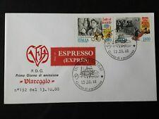 REPUBBLICA  BUSTA FDC  1988