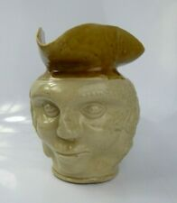 More details for antique english pottery character toby jug - hand potted bristol glaze folk art