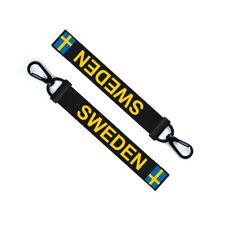 Sweden Key Chain Keyring Luggage Tag Zipper Pull Bag Swedish Flag Key Ring