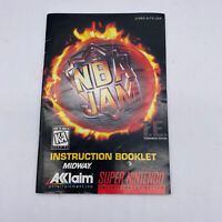 NBA Jam TE Tournament Edition T.E. SNES Super Nintendo Instruction Manual Only