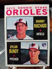 2013 Topps Heritage #201 Manny Machado RC /  Dylan Bundy RC - Baltimore Orioles