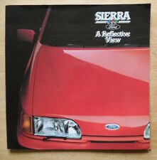 FORD SIERRA orig 1987 UK Mkt glossy sales brochure - A Reflective View - XR4x4