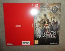 Nintendo Switch Octopath Traveler promo Sleeve  shop display NO GAME coming soon